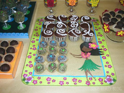 Créme Brulée Cupcakes and Mini Chocolate Covered Marshmallows